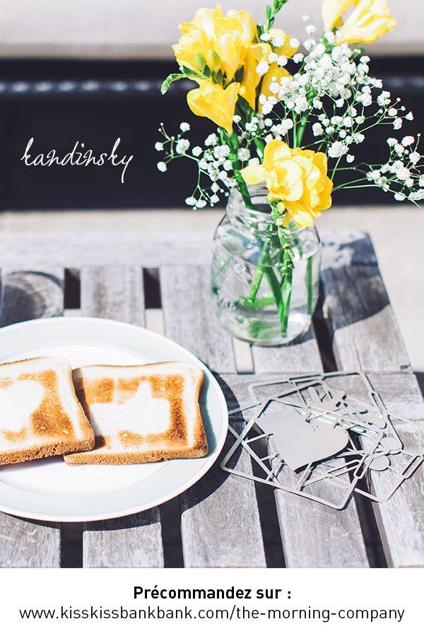 Kandinsky, le 1er pochoir à toast qui donne de la personnalité à vos tartines grillées ! Made in Picardie (made in France quoi)