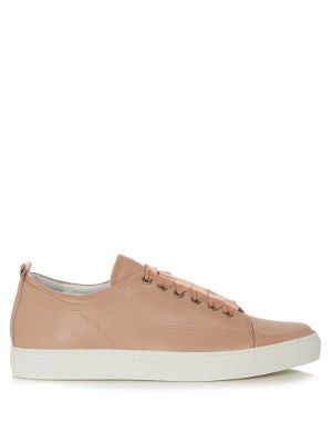 Capped-toe leather low-top trainers | Lanvin | MATCHESFASHION.COM US