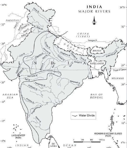 indian river system map Drainage System Geography Map Ancient India Map India Map indian river system map