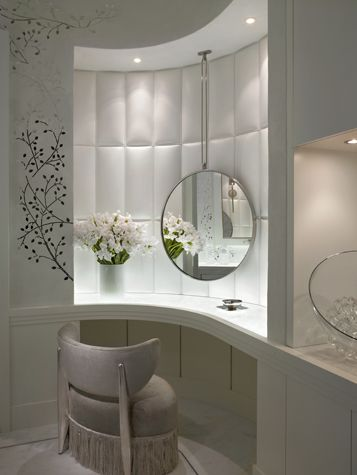 Ocean Penthouse Miami Beach - contemporary - Powder Room - Miami - alene  workman interior design, inc