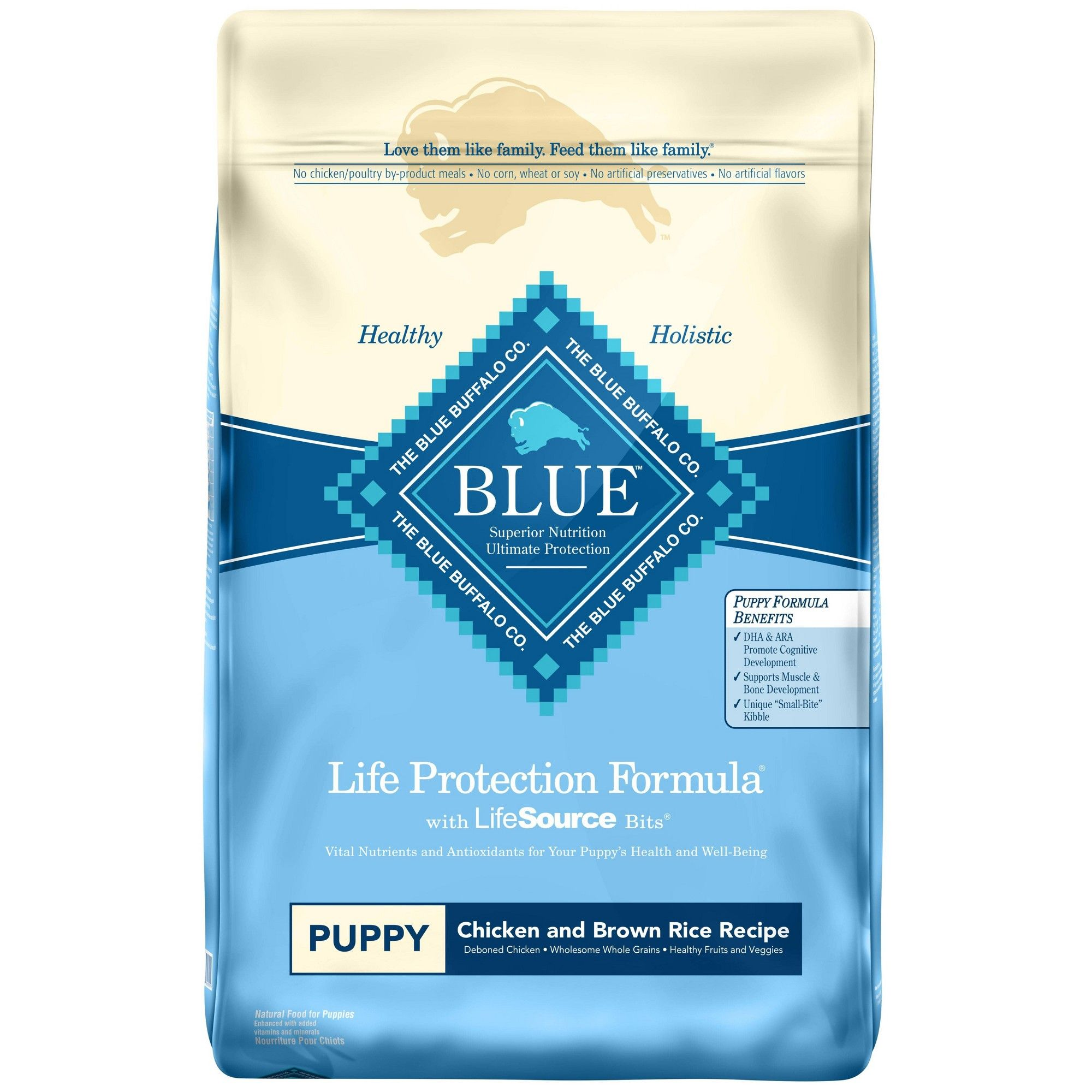 Blue Buffalo Large Breed Puppy Chicken /& Brown Rice Recipe Dry Dog 30Lb