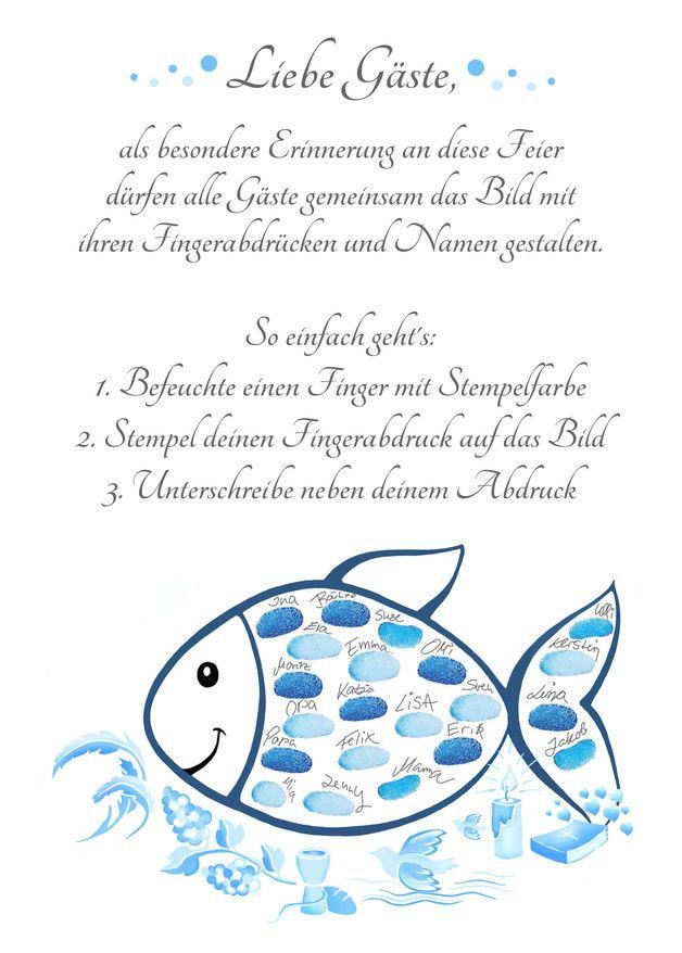 Der Fingerabdruck Fisch Zur Kommunion Und Konfirmation