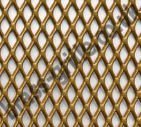 Expanded Steel Grille Mesh Gold Powder Coated 1220mm X 914mm X 1mm Metal Grill Decorative Grilles Metal Mesh