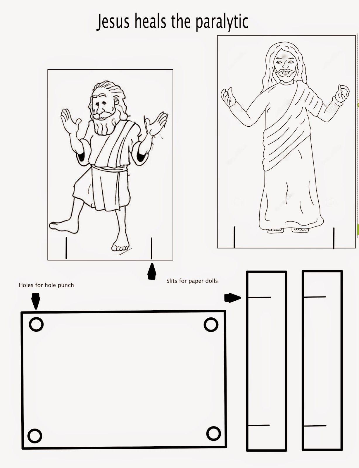 Jesus Heals Paralyzed Man Bible Crafts Bible Story Crafts