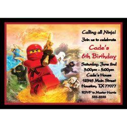 lego ninjago invitations free printable images of kids birthday