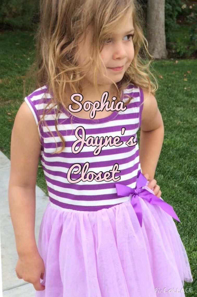 Win this dress right now on our Facebook page!  #sophiajaynescloset #tutu #purpletutu #tutudress #giveaway