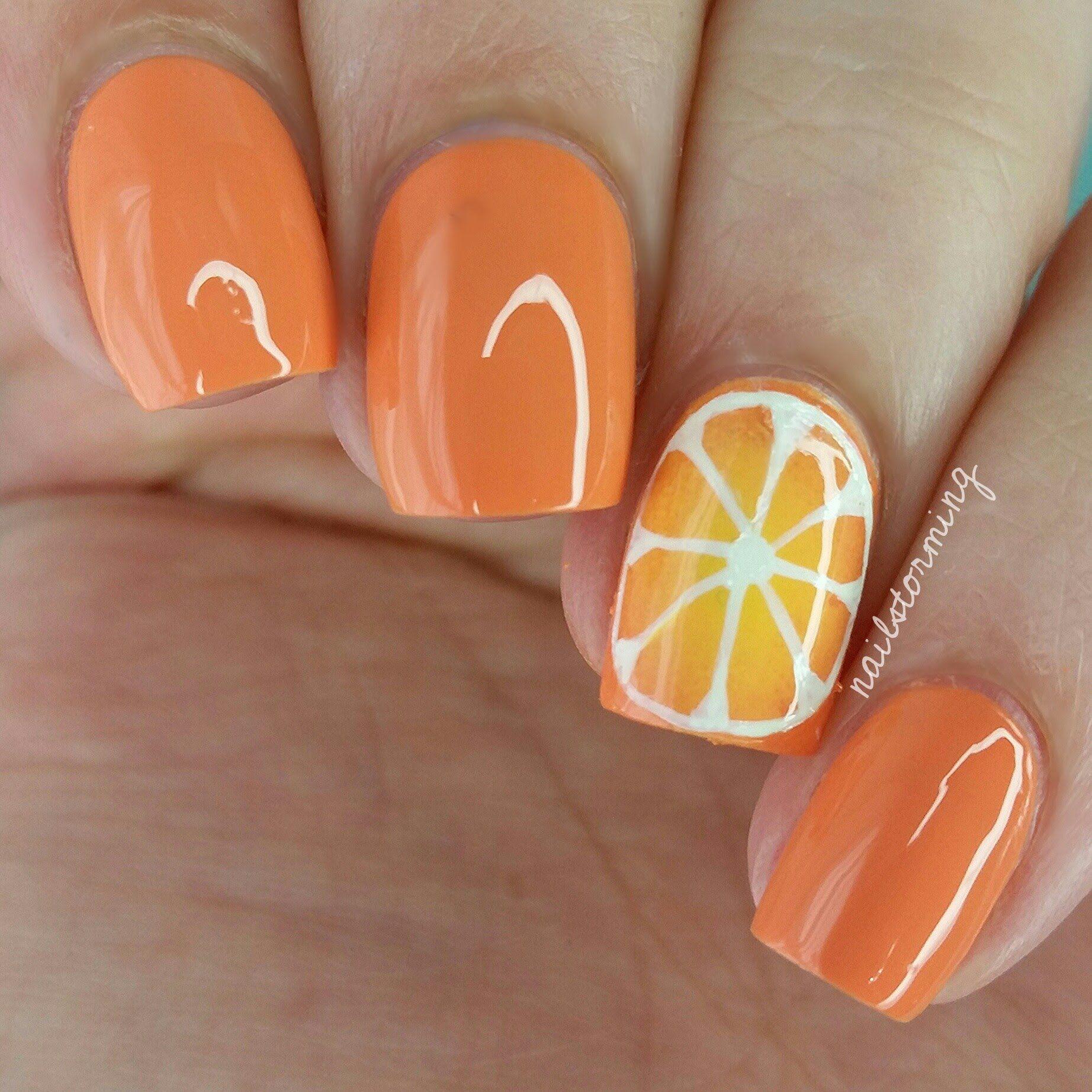 Nail Art Tutorial: Orange Slice | Nail designs | Pinterest | Orange ...