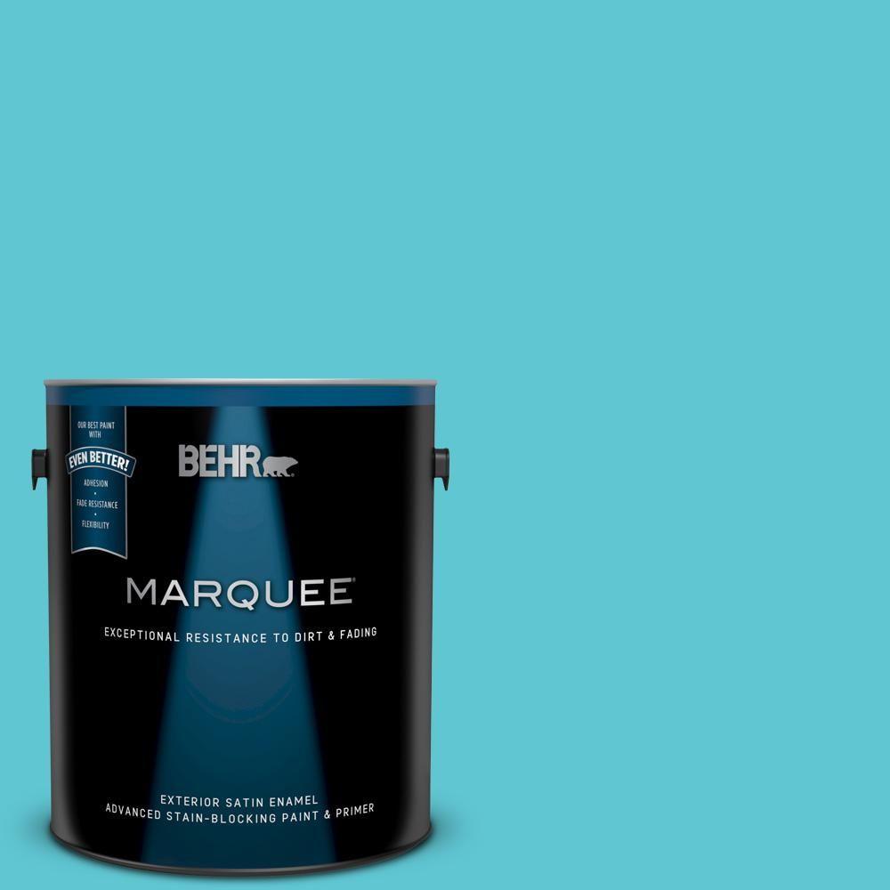 Behr Marquee 1 Gal P470 4 Paradise Sky Satin Enamel Exterior