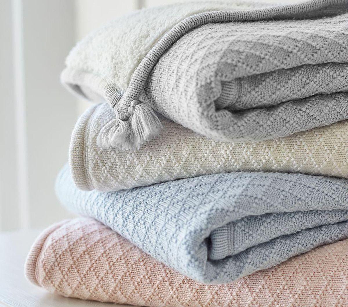 Luxe Knit Sherpa Baby Blanket Pottery barn baby blanket