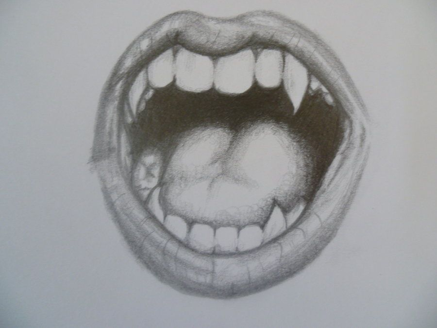 Pencil Drawing Vampire Teeth Google Search Things I M Drawn To