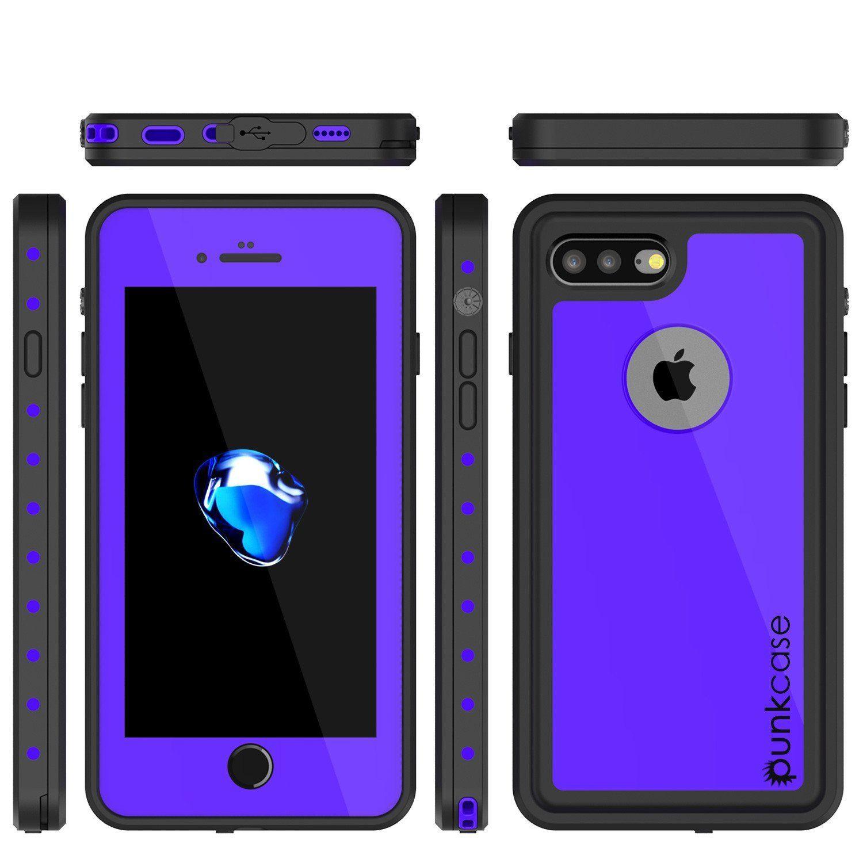 buy online 21c38 c6139 iPhone 8+ Plus Waterproof IP68 Case, Punkcase [Purple] [StudStar ...