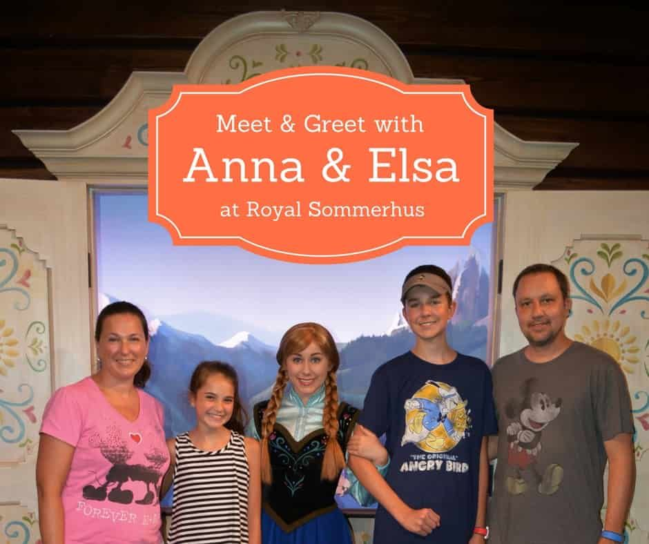 If you are looking forward to meeting Anna and Elsa on your Disney vacation, you will need to head over to meet Anna and Elsa at Royal Sommerhus in Epcot.