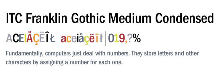 ITC Franklin Gothic Medium Condensed - awesome condensed