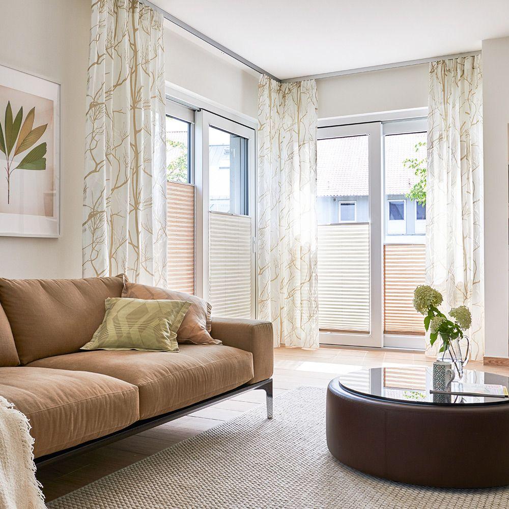Deko-Vorhang und Plissee für Ihr Wohnzimmer  Deko vorhänge