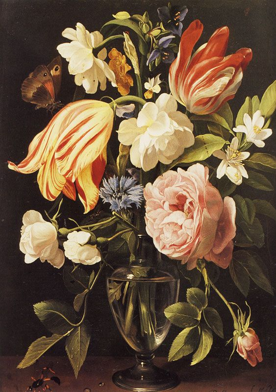 Daniel Seghers - Vase of Flowers.  Displayed at the Neue Residenz, Bamberg, Germany