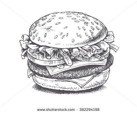 stock-vector-illustration-of-a-burger-vector-drawing-382294198.jpg ...