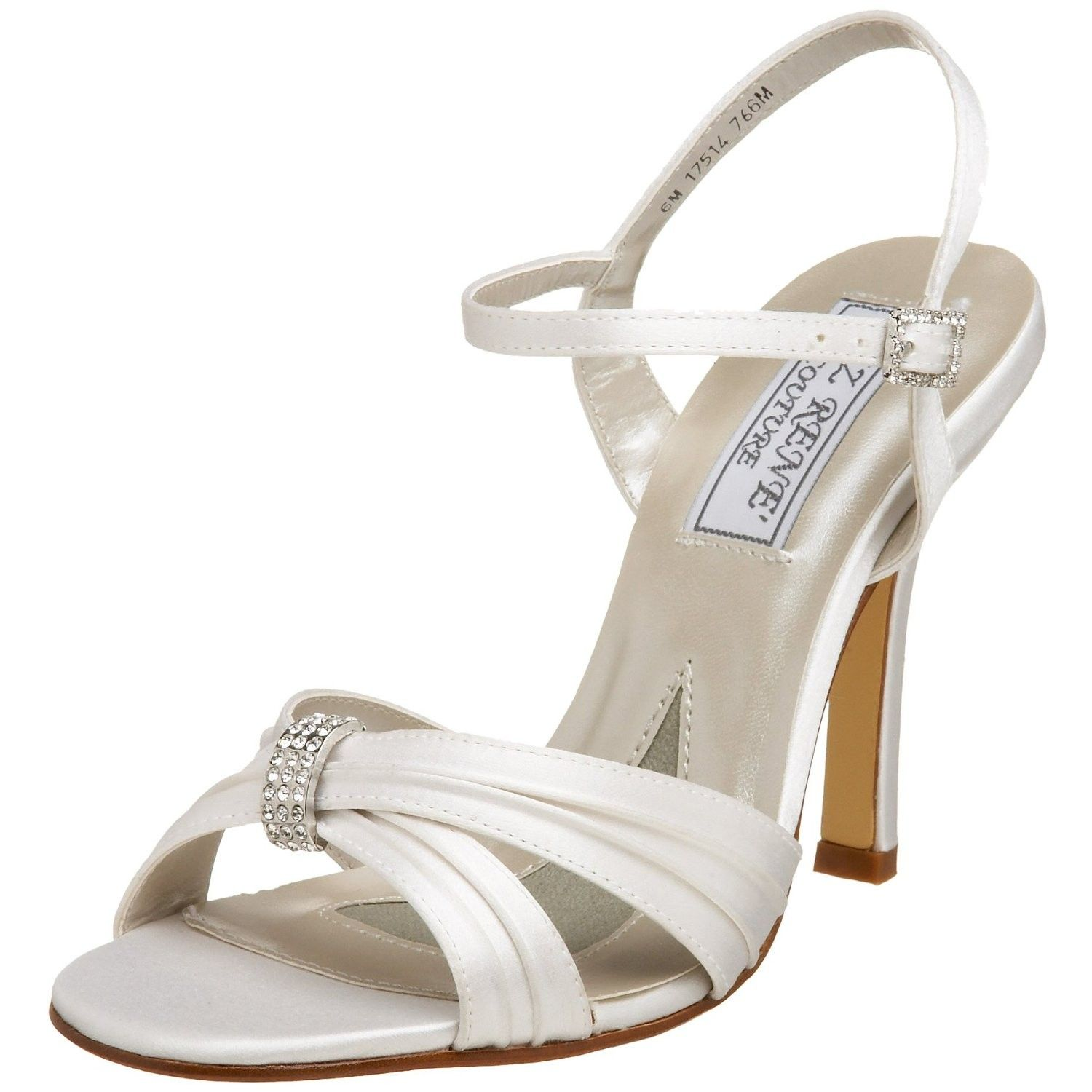 Angelina Dress Sandal in Dyeable White Silk
