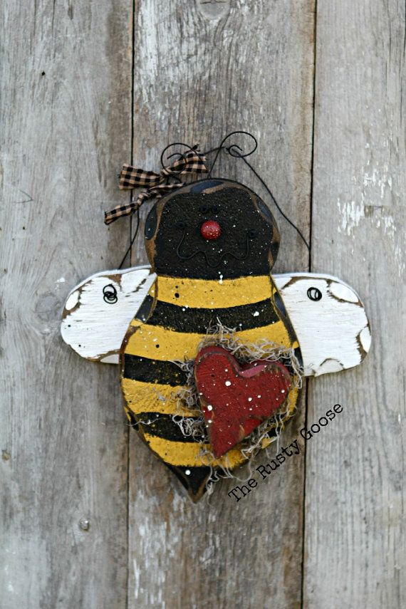Spring Bee Decor Be Mine Rustic By Therustygoose