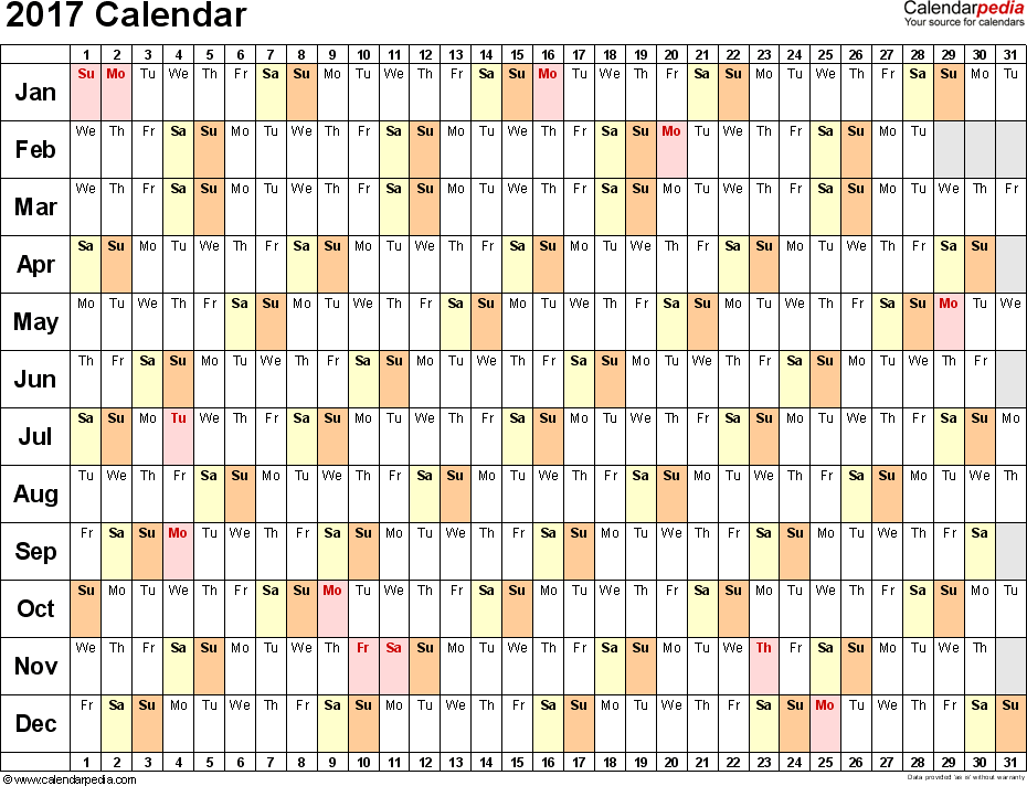 Calendar 2017 Template Word from i.pinimg.com