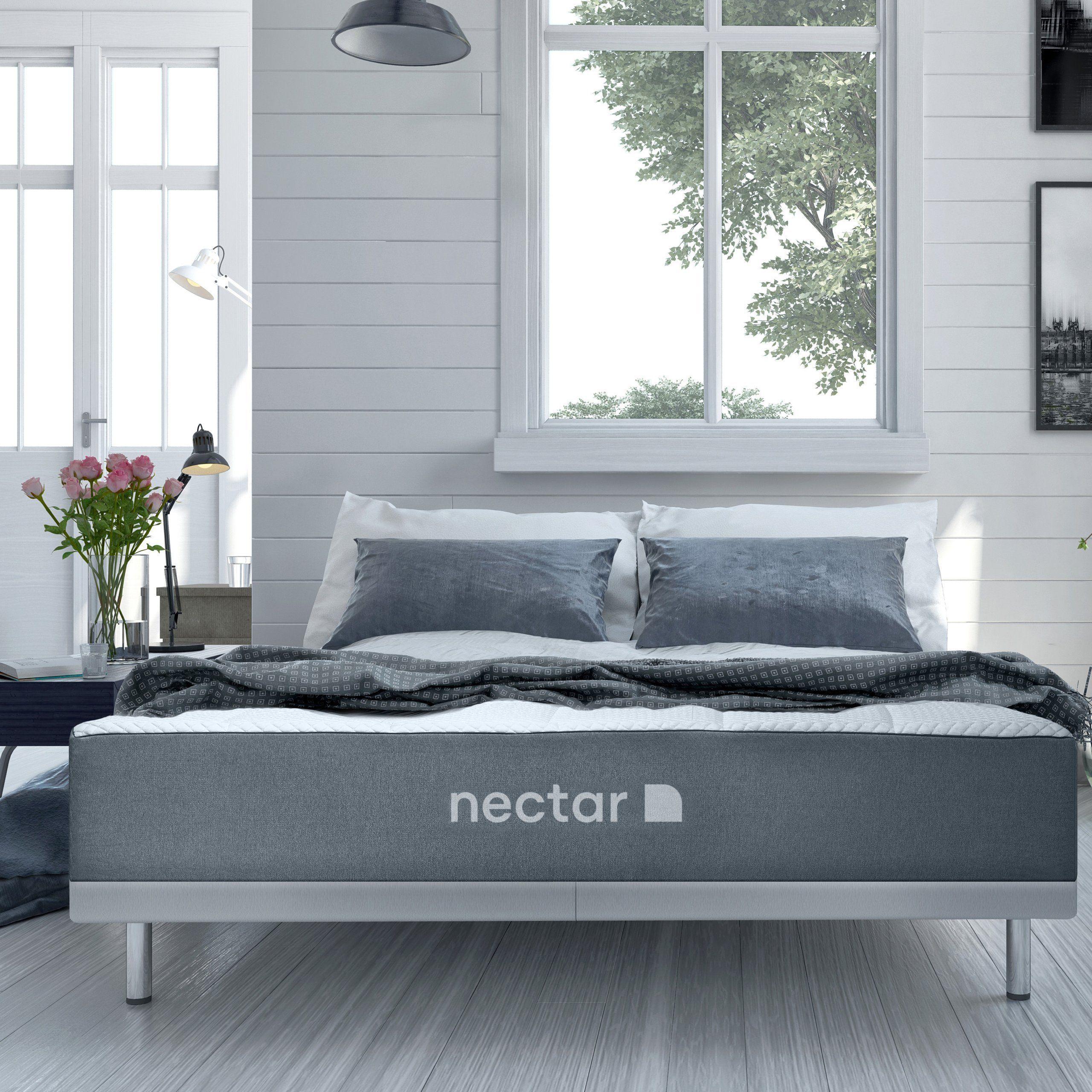 Nectar Queen Mattress 2 Free Pillows Gel Memory Foam Certipur Us