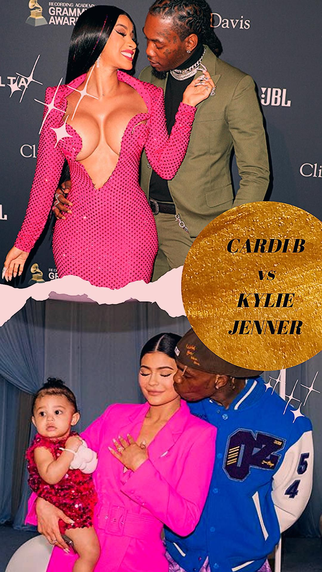 Photo of ❤️See who is being copied?Kylie Jenner vs Cardi B Quiz🦞Burgundy Color Outfit Fashion Compilation!