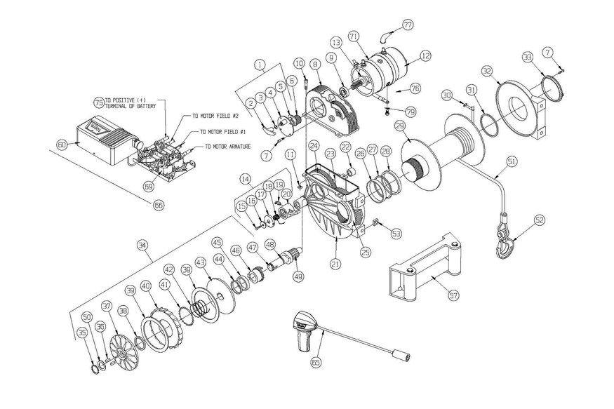 Rebuilding The Legendary Warn M8274 Electric Winch Step By Step Electric Winch Winch Warn Winch