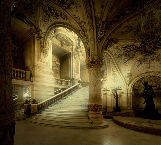 The Airy Baroque Interiors Of The Paris Opera House Are