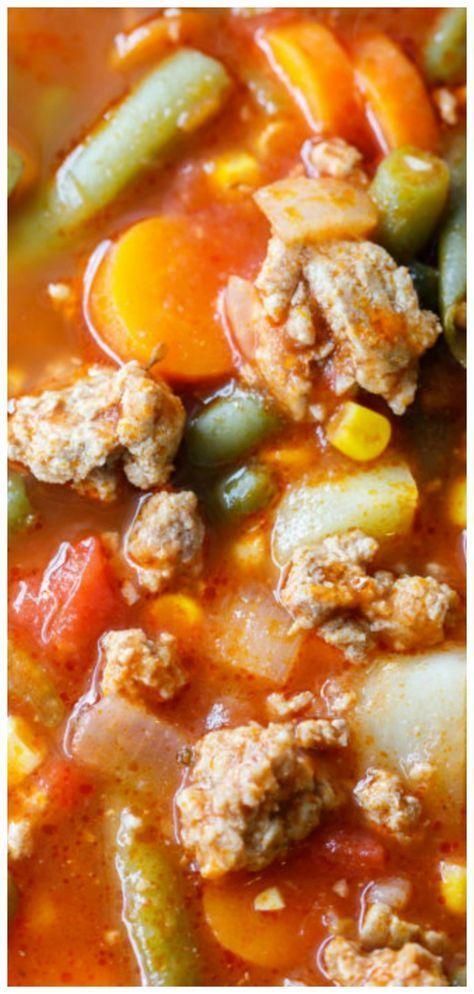 Ground Turkey Vegetable Soup Recipe  Ground Turkey Vegetable Soup Recipe
