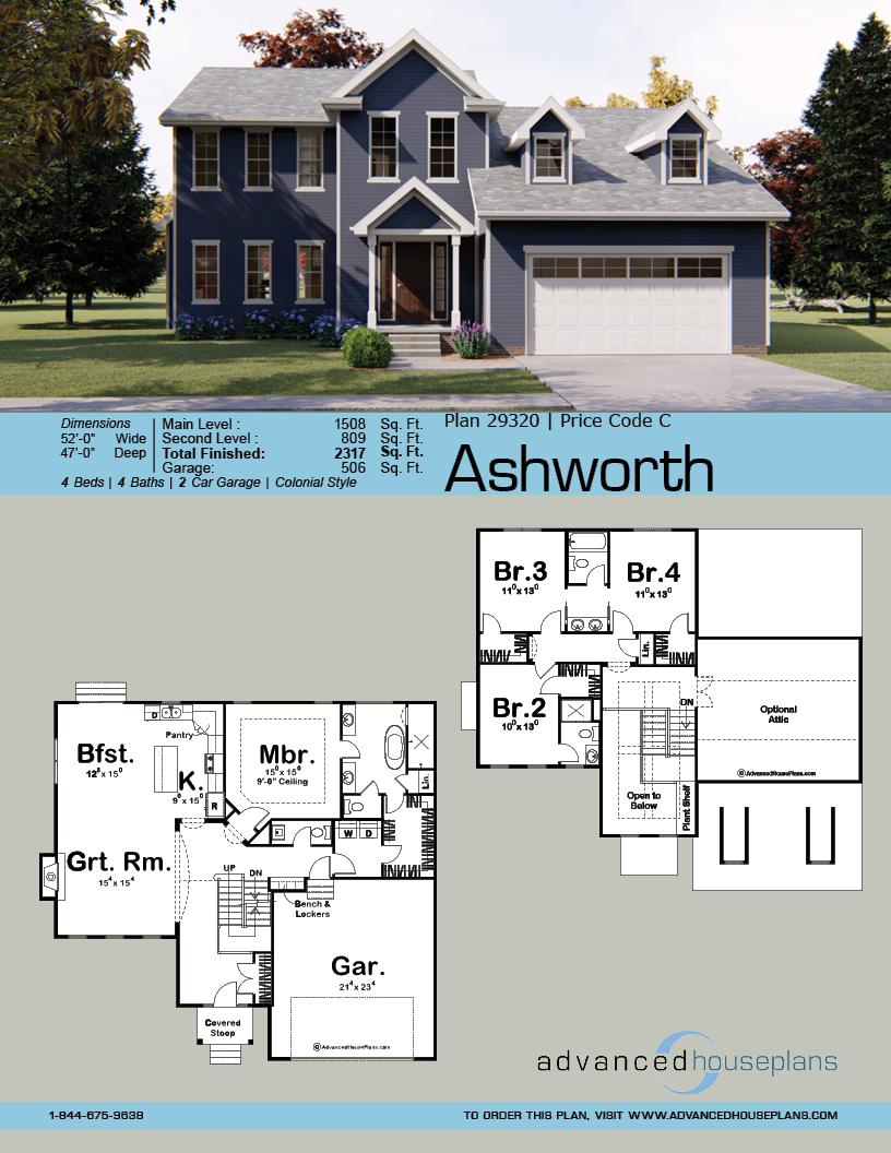 1 5 Story Traditional House Plan Ashworth House Plans Traditional House Plan Traditional House Plans