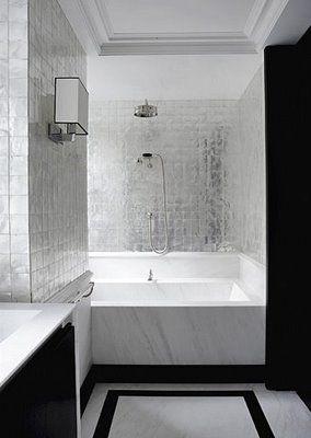 Joseph Dirand Again Monotone Modern And Graphic Great Shimmer To Silver Tiles Bathroom Design Bathroom Inspiration Bathrooms Remodel