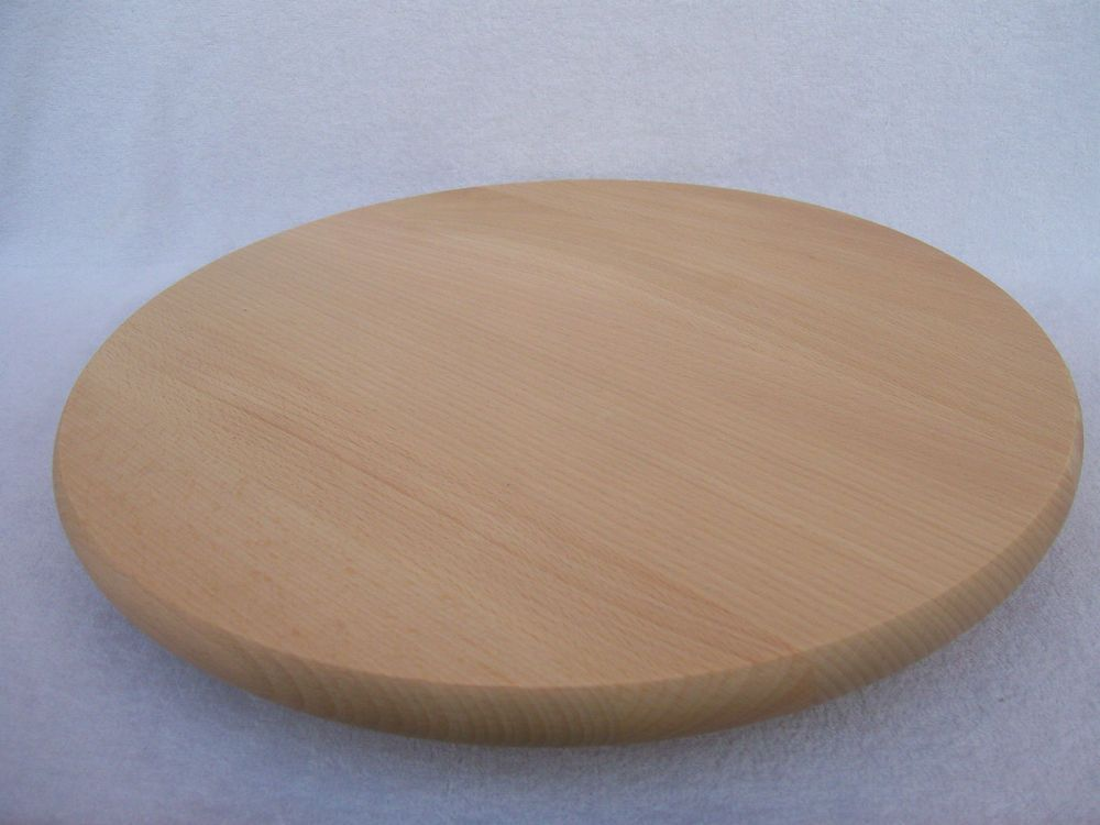 Wooden Serving Cheese Pizza Cake Rotating Turning Round Board