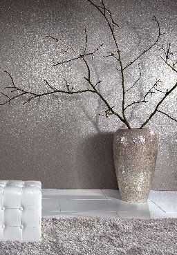 Wallpaper Inspiration...Silver Glitter paint for walls