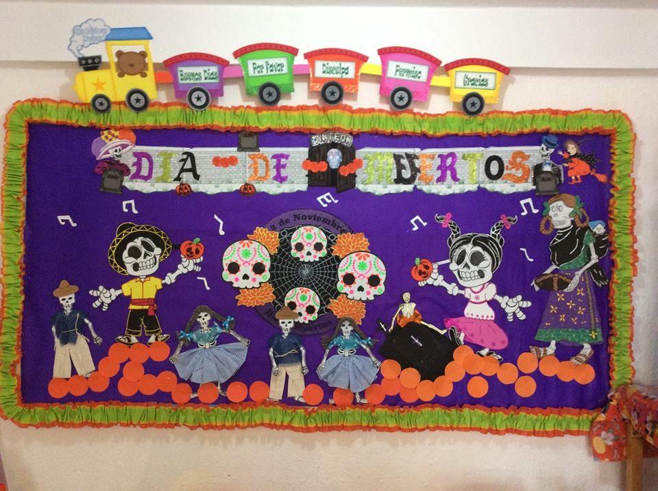 Peri dico mural del d a de muertos mes de noviembre for Dia de los muertos mural