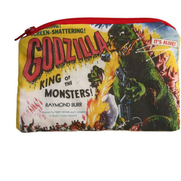 Godzilla - Vintage Horror Monster - Zipper Pouch (€8,90) ❤ liked on Polyvore featuring bags, fillers, zipper pouch, vintage pouch, zip coin pouch, zip pouch y zipper coin pouch