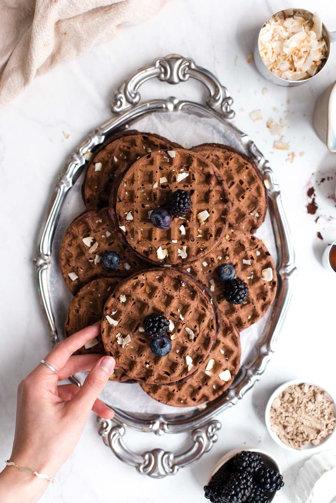 Vegan Chocolate Waffles