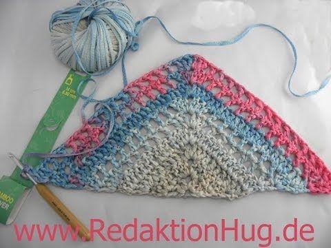 Häkeln Schultertuch Dreieckstuch Aus Bändchengarn Crochet