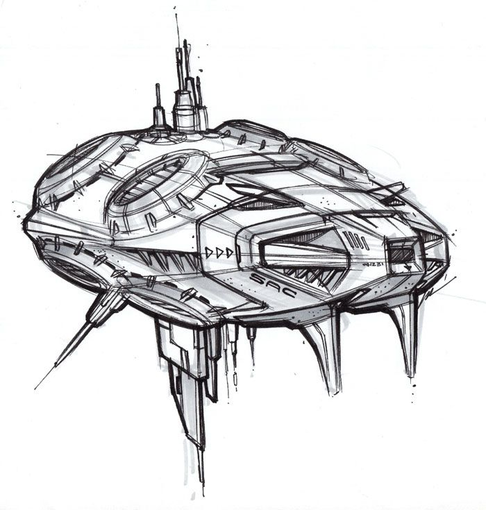 рисунки кораблей будущего в картинках почти