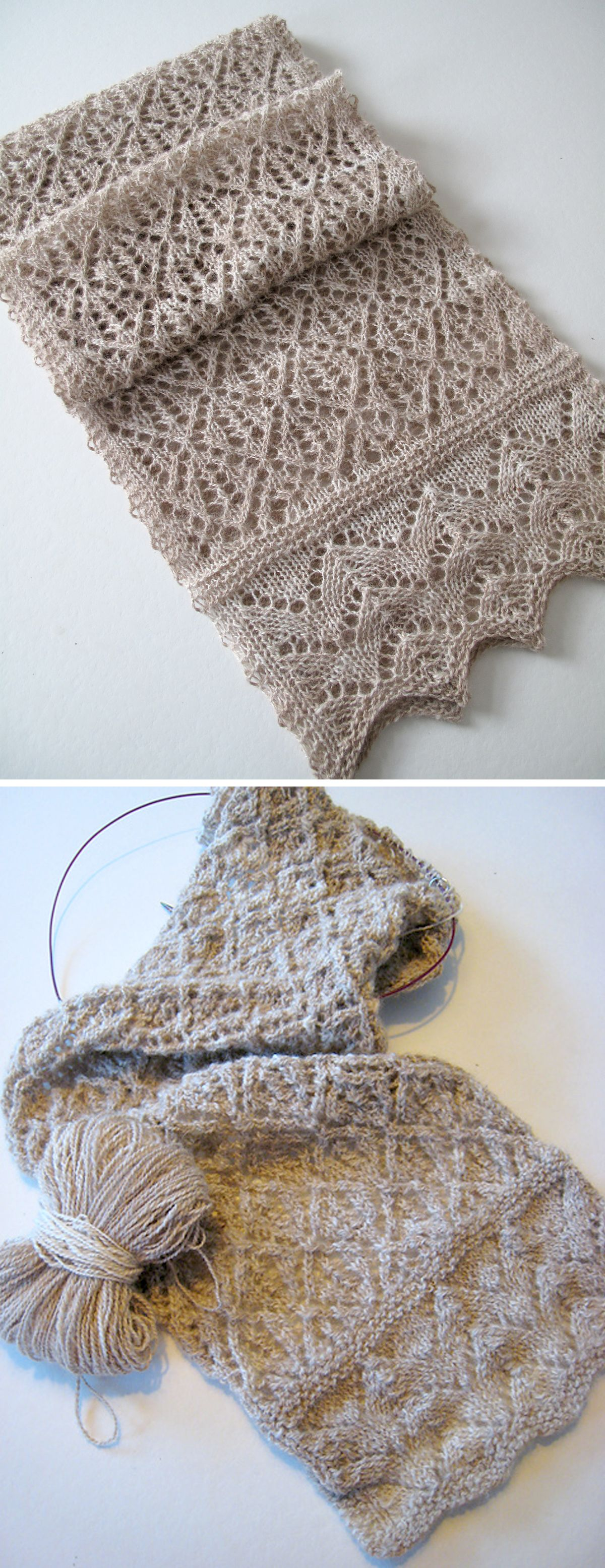 Kernel - Free Lace Scarf Pattern #crochetclothes
