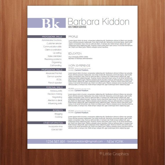 Resume Template Pdf Form / Custom Your Resume / / Cv Template