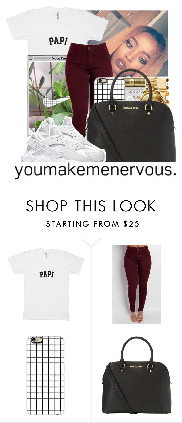 """""""🌻🌻🌻"""" by awesomeblossom23 ❤ liked on Polyvore featuring Casetify, Michael Kors and NIKE"""