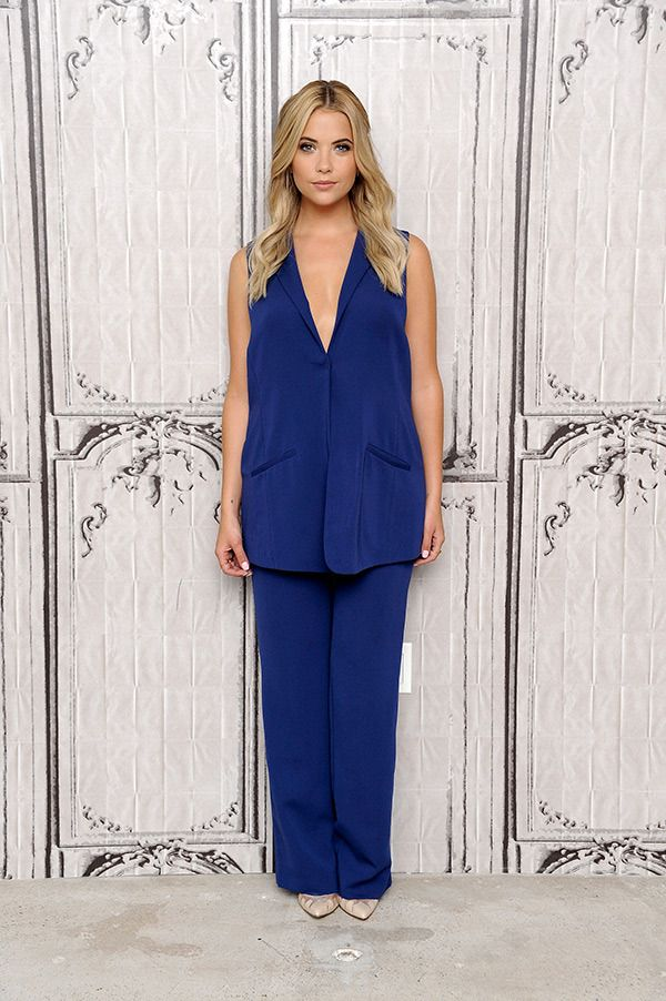 Ashley Benson attends AOL BUILD Speaker Series to discuss her film 'Pixels' at AOL Studios In New York on July 23, 2015 in New York City.