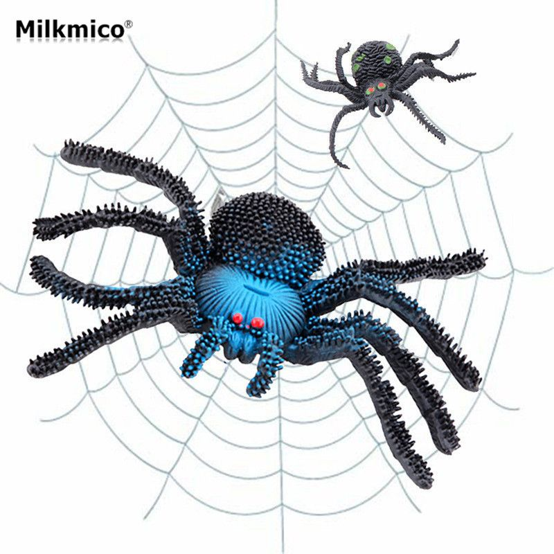 Milkmico Hot Selling Funny Goofy Fake Animal Spider Halloween - spiders for halloween decorations