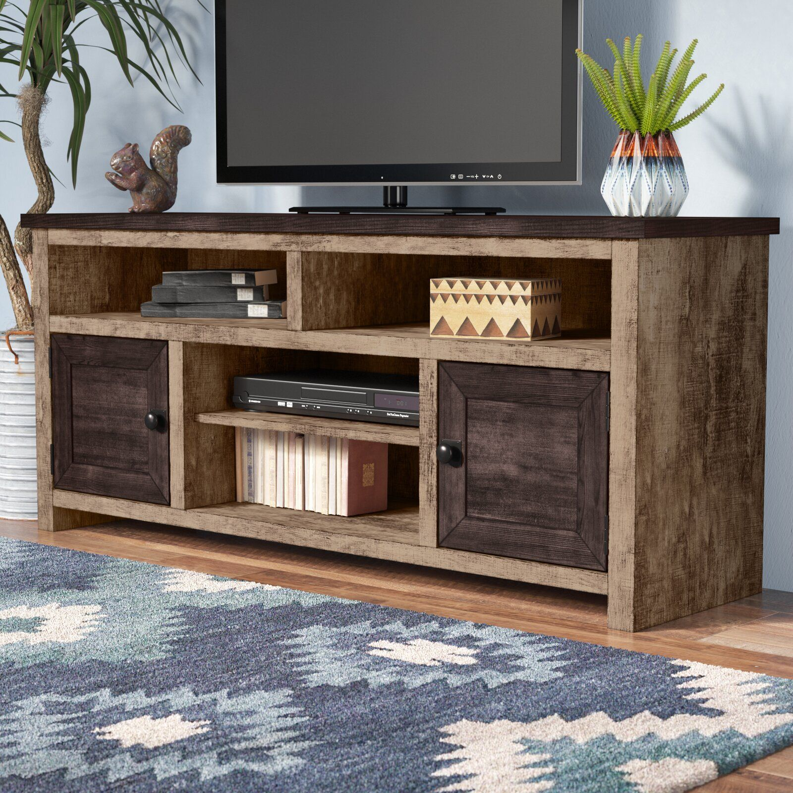 Woodsburgh Tv Stand For Tvs Up To 70 Living Room Tv Stand Tv