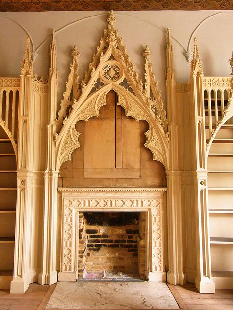 The Library Strawberry Hill Strawberry Hill House House On A Hill Gothic Interior