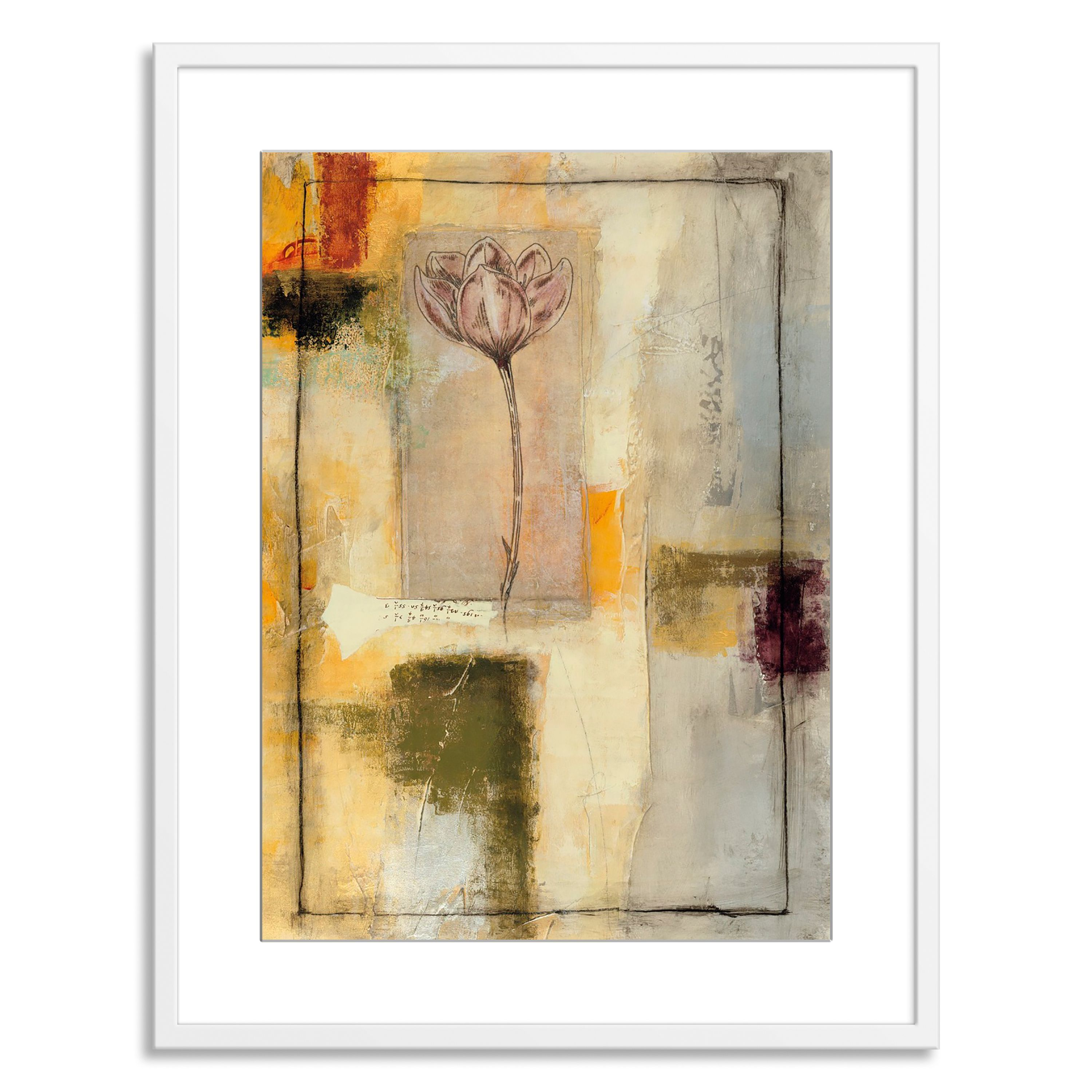Gallery Direct Jane Bellows \'Flora II\' Paper Framed by Gallery ...