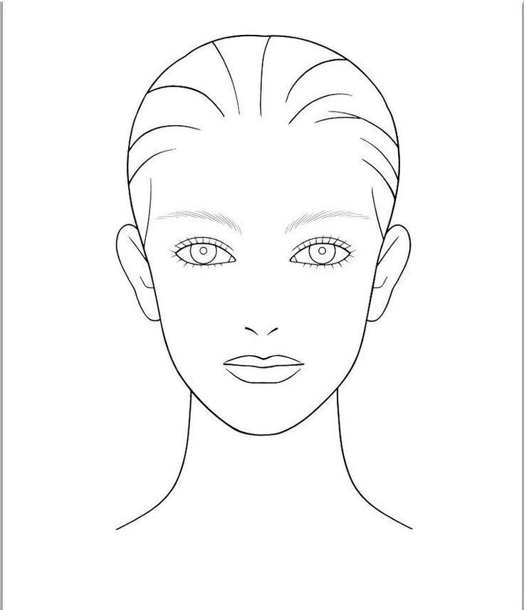 blank face template hair