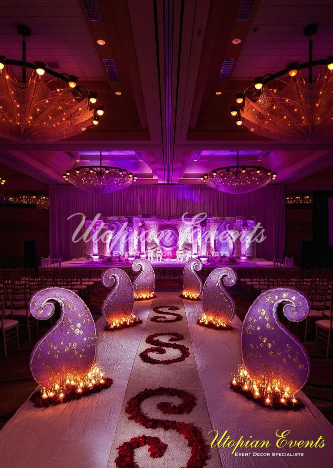Mango Reception Decor Decoration Aisleway Candles Indian Wedding