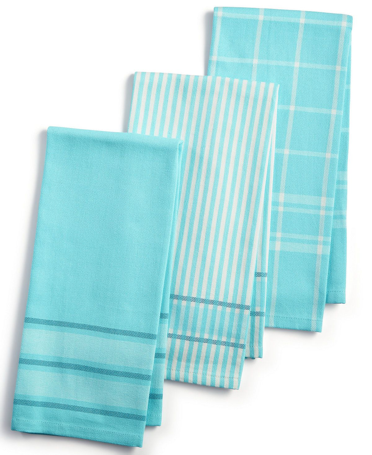 Martha Stewart Collection 3 Pc Jacquard Striped Cotton