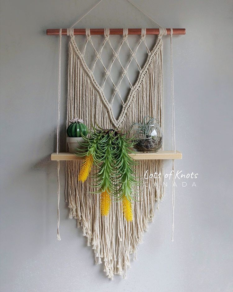 "Chantel Conlon on Instagram: ""Y'all ready for this?? Macrame Shelf tutorial coming next Wednesday!!! � Who's been waiting for this one? � Happy Thursday! ️"""
