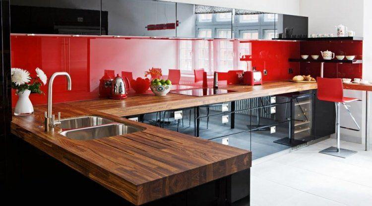 Cuisine noire et bois en 42 idées de design d\'intérieur ...